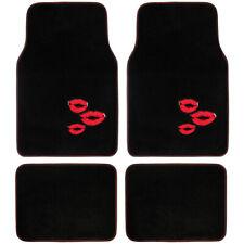 4 Piece Front and Rear Carpet Mats Car Auto Van SUV Trucks Red Lips Design⭐⭐⭐⭐⭐