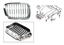 BMW 3 E46 GRIGLIA MASCHERINA PARAURTI PRESA D'ARIA ANT DX 51138208490 cromo