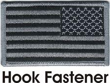 Urban Black Gray United States US Reversed Flag Patch VELCRO® BRAND Fastener