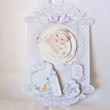 """Handmade""card~UNIQUE 3D~STAND UP BABY BOY BABY CARD~By D~#SC73"
