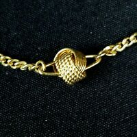 Avon Love Knot Gold Tone Necklace 16 inch Chain