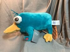 Disney Store Perry the Platypus Plush Phineas & Ferb Stuffed Animal Makes Sound