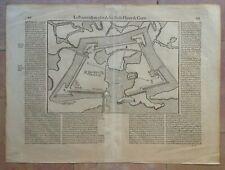 FRANCE LE HAVRE NORMANDY 1575 BELLEFOREST 16e CENTURY LARGE ENGRAVED PLAN