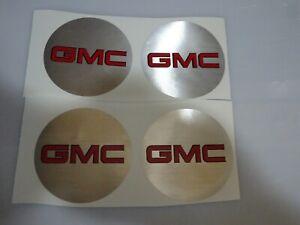 """GMC TRUCK RIM CENTER CAP  DECAL EMBLEM STICKER 3.5""""   SET OF 4"""