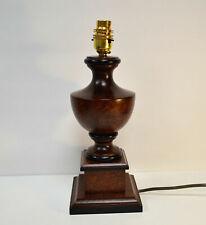 Table Lamp Base Dark Hard Wood Brass Lampholder Gold Cable