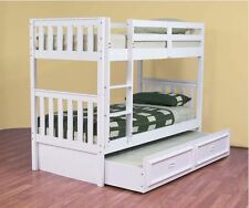 LYNDFIELD  King Single Bunk Bed  Excluding Trundle   - Arctic White