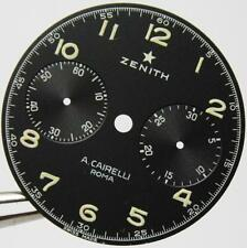 "dial for Italian Military AirForce Zenith ""Cairelli"" PILOTS watch Chronograph"