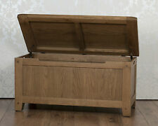 Solid Oak Storage Ottoman / Blanket Box in Chunky Dorset Country FREE DELIVERY!!