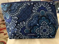 Vera Bradley new with tags lighten up large cosmetic bag/ Blue Tapestry