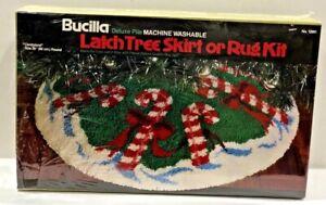 "Vtg Bucilla Candyland Tree Skirt Latch Hook Rug Kit #12961 Sealed 39"" Round"