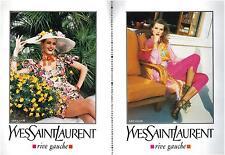 ▬► PUBLICITE ADVERTISING AD YSL Yves Saint Laurent Rive gauche 6 pages 1992