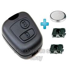 Coque + pile + 2 switch Peugeot clef 307 107 clef Plip Bouton Clé 2 boutons