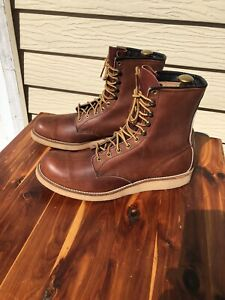 Vintage Red Wing #708 Heritage Motorcycle Boots Size 10.5 USA Made *RARE*
