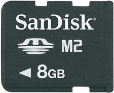 Original SanDisk Speicherkarte 8 GB Memory Stick Micro M2 für Sony PSP GO (161)