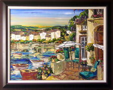 """Maya Eventov """"La Vista Balcone"""" Original Acrylic on Canvas, H.Signed ME781806"""