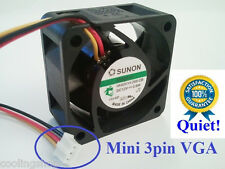 40mm VGA cooling fan, Sunon MagLev HA40201V4, PH 2.0mm Mini 3pin 12dBA KDE1204