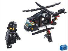 LARGE HELICOPTER * 224 pcs * RIOT POLICE * COMPATIBLE BRICKS * Building Blocks