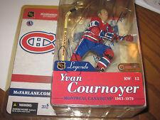 YVAN COURNOYER AUTOGRAPHED MCFARLANE NHL LEGENDS FIGURE-CANADIENS-HOF 82 INSCRP