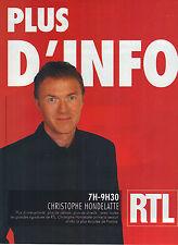 PUBLICITE ADVERTISING   2006   RTL   CHRISTOPHE HONDELATTE