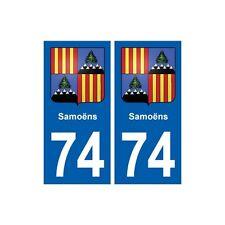 74 Samoëns blason autocollant plaque stickers ville arrondis