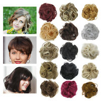 Trend Curly Messy Hair Piece Scrunchie Real Human Look Hair Extensions Bun Gift