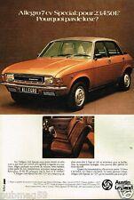 Publicité advertising 1977 Austin Allegro 7 cv special