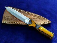 """9.2"""" SEO Handmade Full Tang 1095 High Carbon Steel Dagger Blade Boot Knife"""