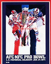 New listing NFL 1971 Pro Bowl Program REPRINT COVER Color 8 X 10 Photo Picture