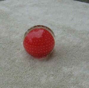 Vintage Red Blown Glass Paperweight w Controlled Clear Bubbles Murano?~Stock b