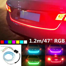 "47""RGB LED Car Rear Trunk Strip Light Tailgate Brake Drive Turn Signal Flow Lamp"