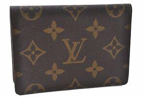 Auth Louis Vuitton Monogram Porte 2 Cartes Vertical Card Case M60533 LV D4082