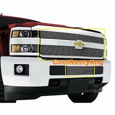 FOR 2015 2016 2017 2018 Chevy Silverado 2500 3500 HD Billet Grille Grill Combo