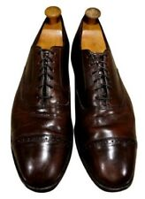 Size US  13 D BROOKS BROTHERS man GENTS  SHOES BROWN LEATHER CAPTOE OXFORDS
