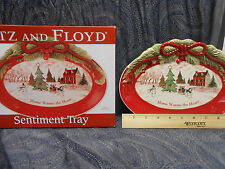 "Fitz and Floyd Sentiment Tray ""Home Warms The Heart"" new in box"