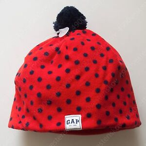 PICk 1pc baby Gap Toddler girl polka dot or striped fleece pom-pom beanie hat