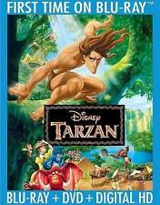 Tarzan Blu-ray/DVD, 2014 HD Digital Copy Disney DMR point English Spanish NEW