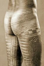 Rear view of a Man's Samoan Pe'a tattoo - Vintage Old Photo (Reprint)