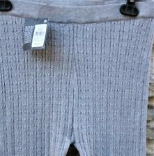 NEW Grey Knitted Cotton Mix Ladies Stretch Leggings 10-12, BNWT (was £8)