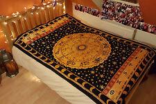 Indian Tapestry Horoscope Hippie Zodiac Wall Hanging Bedspread Throw Bohemian UK