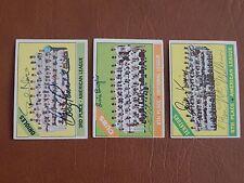1966 Topps #194, Washington Senators team card, autographed by McMullen, King