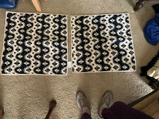 2 - NWOT POTTERY BARN Black Beige Quilted Pillow Shams
