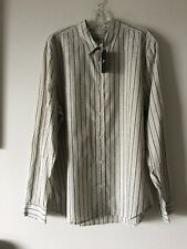 NWT $149 7 FOR ALL MANKIND STRIPED LONG SLEEVE SHIRT SIZE XL