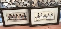 Art LaMay Manuscript Series 828 Wise Guys & Bad Boys Prints Framed Ducks Vintage
