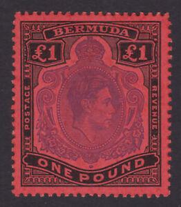 Bermuda. SG 121d, £1 violet & black/scarlet, perf 13. Fine mounted mint.