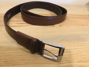 "Men's Marks And Spencer Genuine Brown Leather Belt 42-44"" T2150"