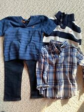 Nautica Boys 18 Months Lot Outfit Elastic Waist Jeans Shirt Sweater Stripes