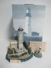 "Harbour Lights ""Alcatraz"" California #417 w/Ornament - Very Rare Pair! Coa!"