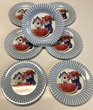 Casual Gourmet Melamine Salad Plates Red, White And Watermelon (7)