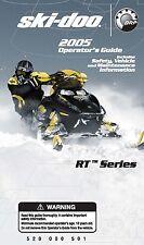 Ski-Doo owners manual book RT Series 2005 MACH Z & SUMMIT