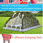 Single Layer Outdoor Tent Camouflage Two Person Waterproof Camping Tent USA A0E7
